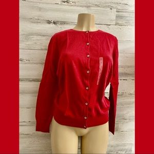 Loft long sleeve red Sweater new size L